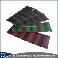 Colorful coated aluminium ceiling tiles, roma color stone coated metal roofing tiles