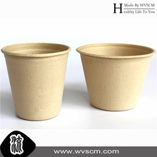 biodegradable moulded pulp wheat straw/bagasse cup