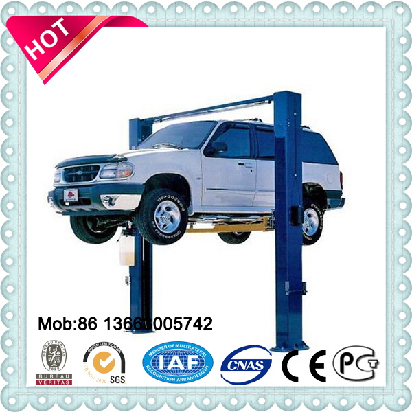 car repair equipment, hydraulic 2 post car lift automotive car truck vehicle head high hoist