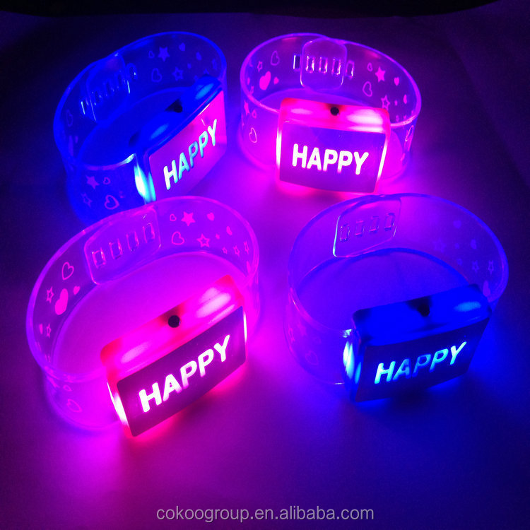 2015 Shenzhen Sunjet party motion led lights bracelet/light bracelet for kids