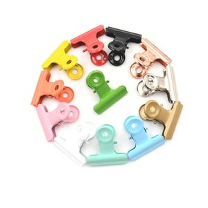 Metal Binder Clips 12 Colors Folder Notes Letter Paper Clip Clamp School Office Stationery