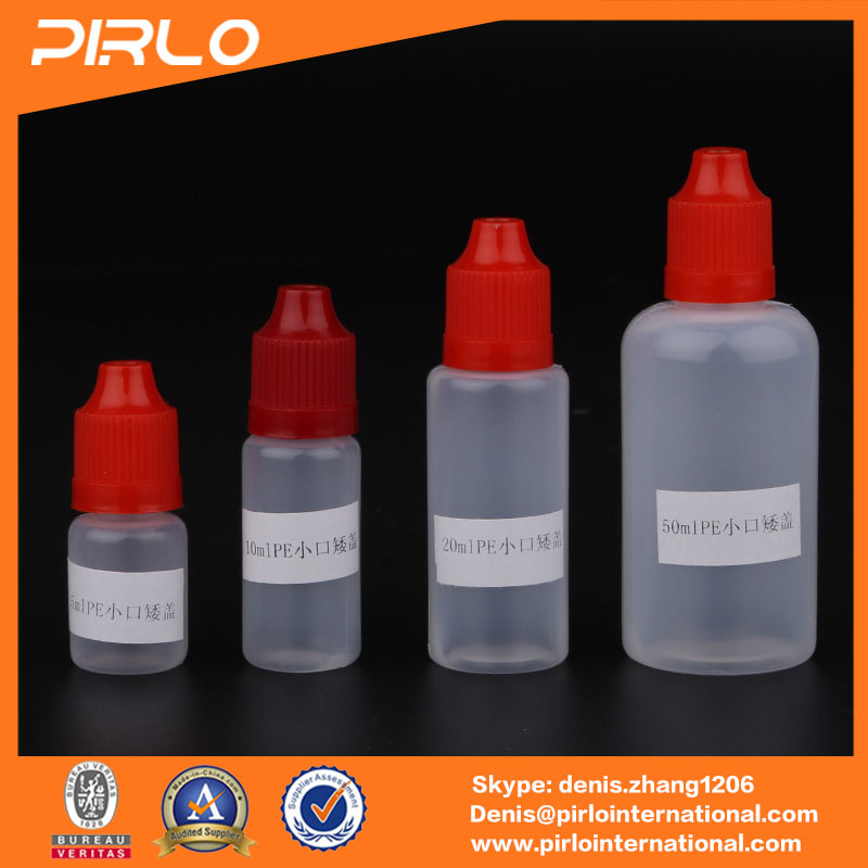 5ml 10ml 20ml 50ml chemical squeeze bottle for vape oil package