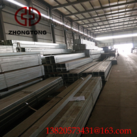 Iron Furniture Square Hollow Steel Metal Tube/80x80 steel square tube Profiles Factory