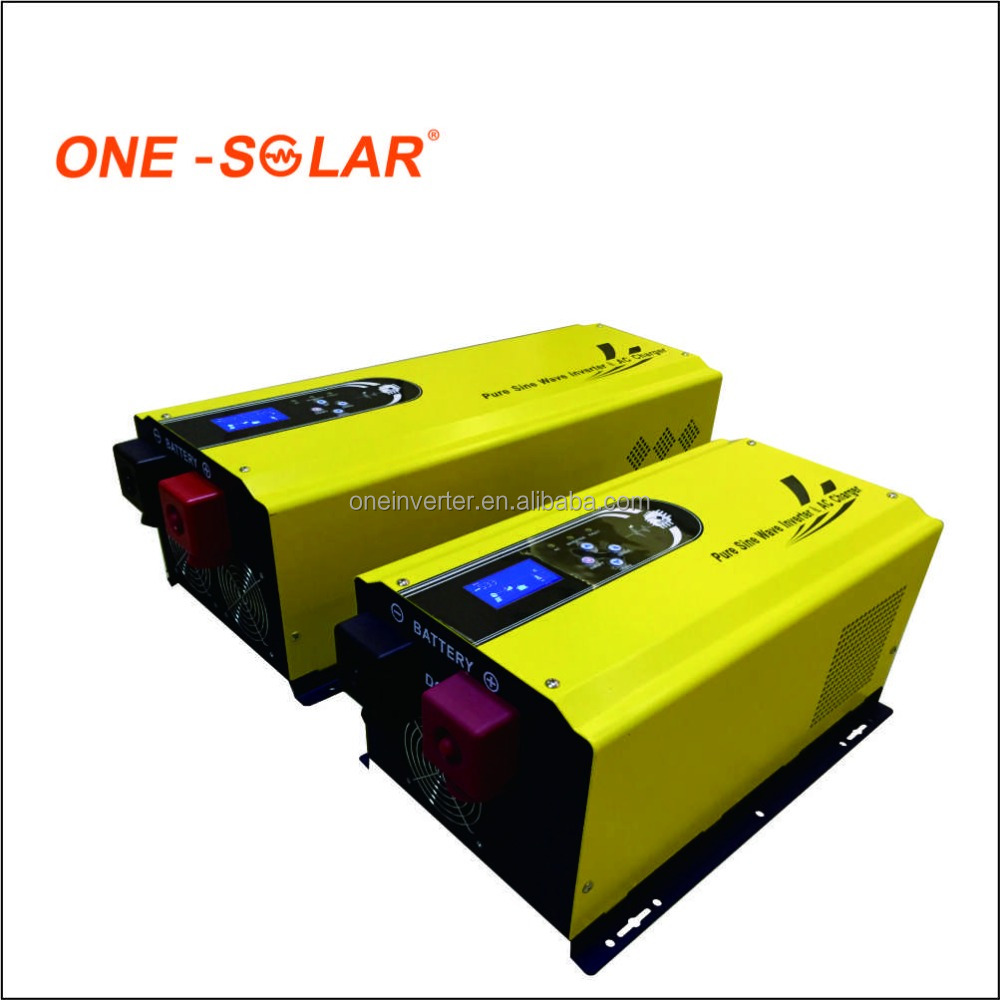 CE Approval 2KW 3KVA Hybrid Inverter 12V 24V 48V 2000W DC to AC Power Inverter with AC Charger for Solar Panel System