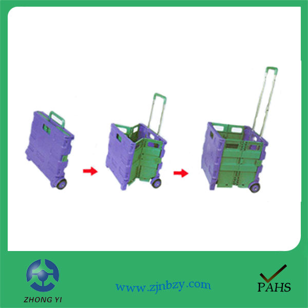 2018 Convenient Folding Plastic Mini Shopping Cart