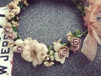 Bridal hair accessories Flower Artificial Flower wreath wholesale headband flower