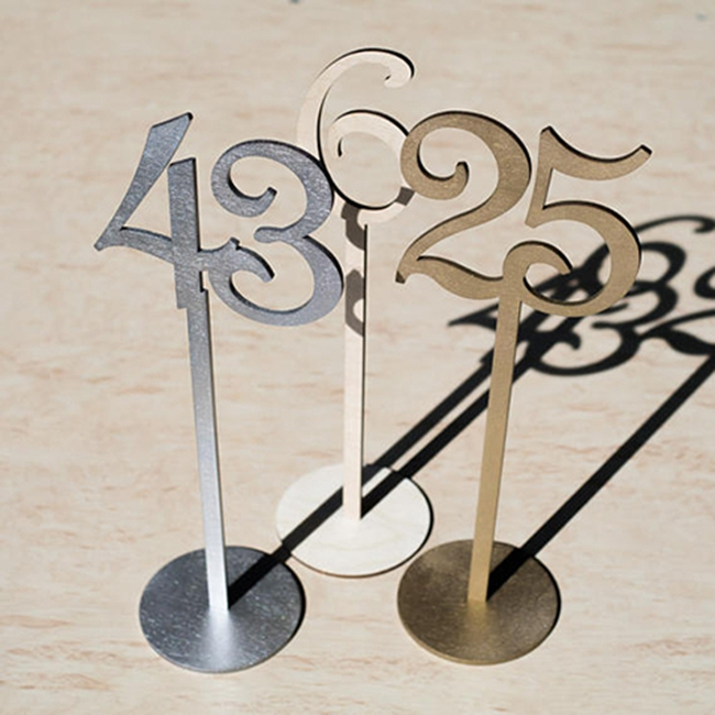Number 1-20 wooden wedding table numbers