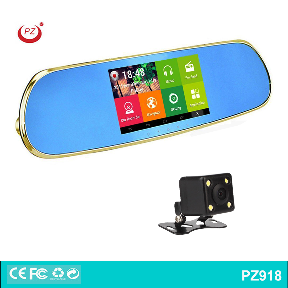 5 inch Screen Size car dvr and Automotive Use gps in rear view mirror