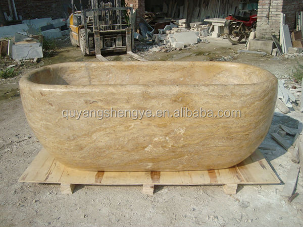 Hand Carved Solid Marble Bathtub