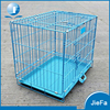 Folding wire dog cage