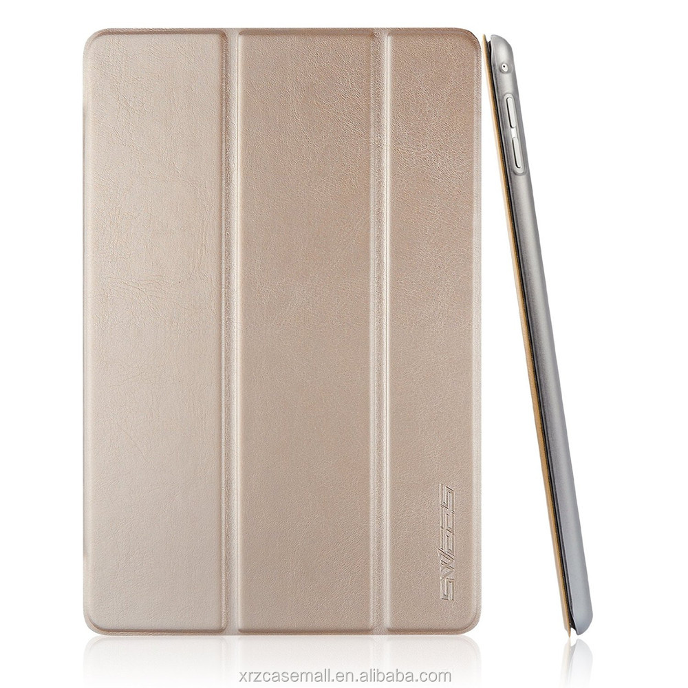 Gold color PU Leather Case for Apple iPad mini 4 (2015 Released) with Magnetic Auto Wake & Sleep Function