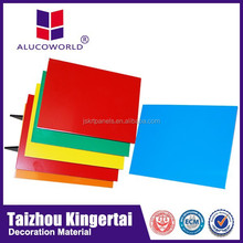 Alucoworld acm plate PE PVDF ACP fiberglass wall cladding decorative panels
