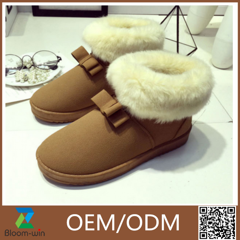 2016 Luxury sheepskin fashion snow winter boots
