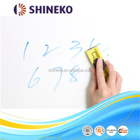 Whiteboard marker writable adhesive backed plastic film