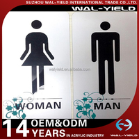 Very beautiful wall acrylic toilet door sign
