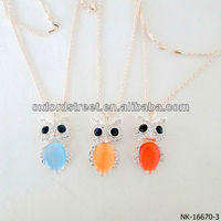 owl diamond pendant necklace from china