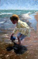 M-219 Ocean with Boy Canvas Oil Painting Model