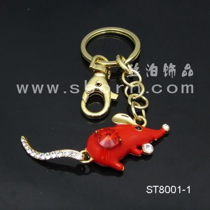 Custom key hotel key ring