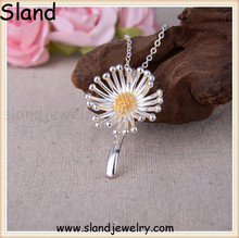 Sland supplies you with abundant high quality silver jewelry, custom pendants in beautiful flower pattern