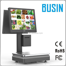 Retail counter scale with cash register terminal