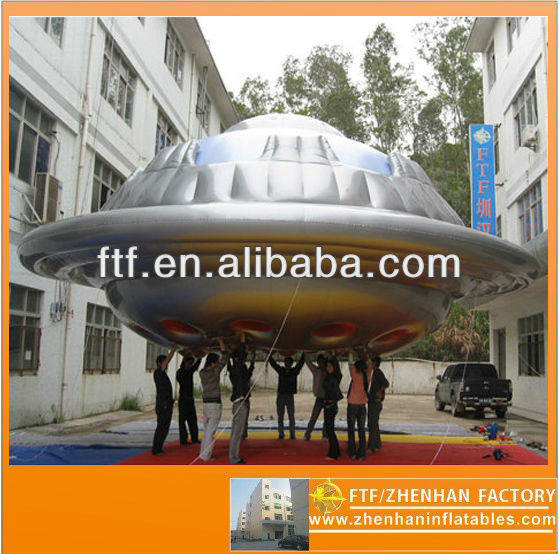 New style hot sale advertising 8m Dia PVC inflatable flying saucer