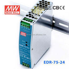 ORIGINAL Meanwell EDR-75-24 75W 24V/3.2A AC-DC economical and slim DIN Rail Switch Power Supply