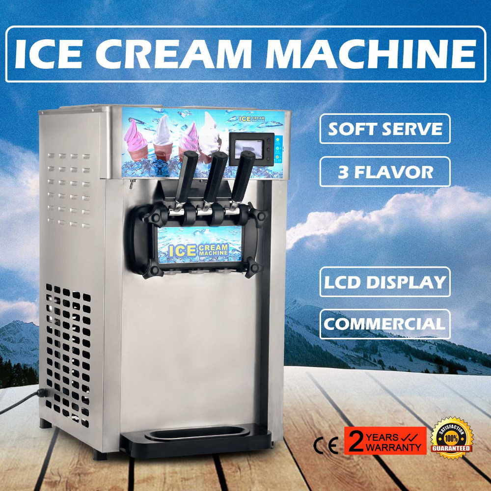 commercial frozen yogurt <strong>machine</strong> , soft ice cream <strong>machine</strong> with 3 flavor 110V