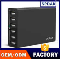 Wholesale new electronic gadget Aukey Quick Chargeing 6 ports usb travel multi charger with High Capacity