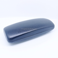 thin metal tool box case for eyewear,pure black pu leather eyeglasses case
