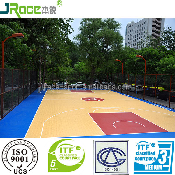 SPU outdoor wood flooring basketball court flooring cost synthetic sport floor