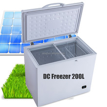 DC AC rechargeable chest freezer 200Liters