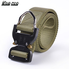 Nylon black leather web police tool belt military type web belt with metal buckle titan