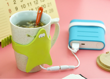 2016 New Product Starfish Silicone Electric Usb Cup Warmer