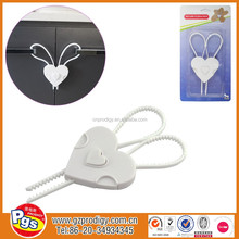 cabinet plastic door locks/wooden drawer locks/heart shape baby lock