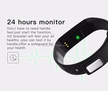 wholesales heart rate blood pressure control waterproof pedometer smart wristband bracelet M2