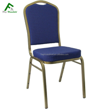Top Quality Best Fabric Steel Metal Frame Hotel Restaurant Stackable Banquet Chair