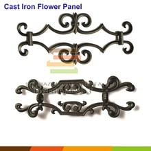Fence gate cast iron ornamental decoration antique flower panel