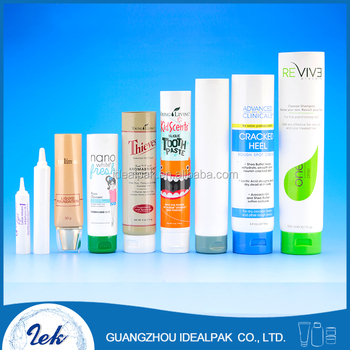 Cosmetic packaging plastic tube with screw cap cosmetic soft tubes