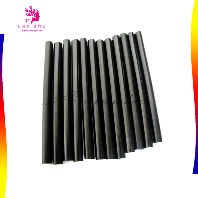 XISHIXIU High quality Black Color hot melt glue sticks/Fusion keratin glue sticks/Italian keratin glue sticks for hair extension