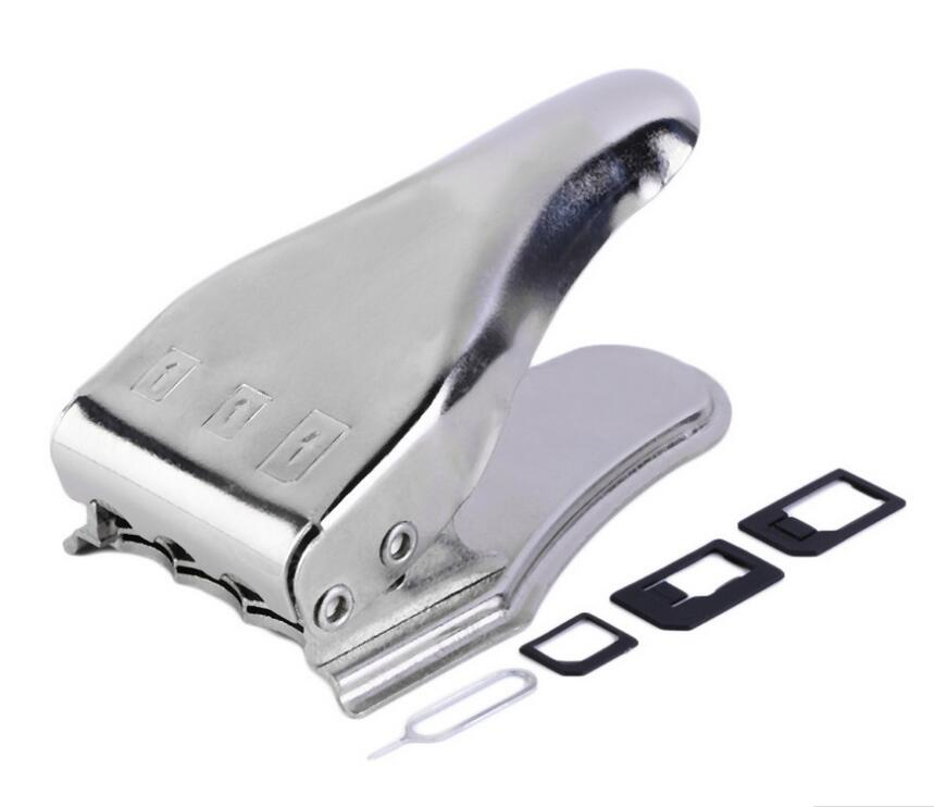 Hot High quality Universal 3 in 1 Micro/Nano/SIM Card Cutter For iPhone 4 5 5S 6 Cell Phone