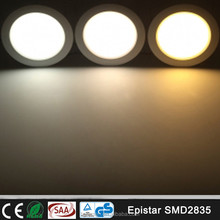 Ceiling Recessed Installation White Color 145mm Ceiling Lighting Round Panel LED