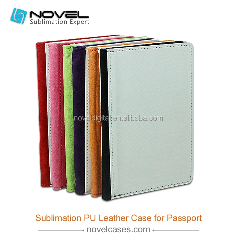 DIY sublimation design cell pu leather <strong>case</strong> for passport