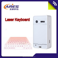 2015 Newest Design White/Black Color Wireless Bluetooth Virtual Keyboard