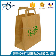 kraft paper material fast food packaging bag with low price