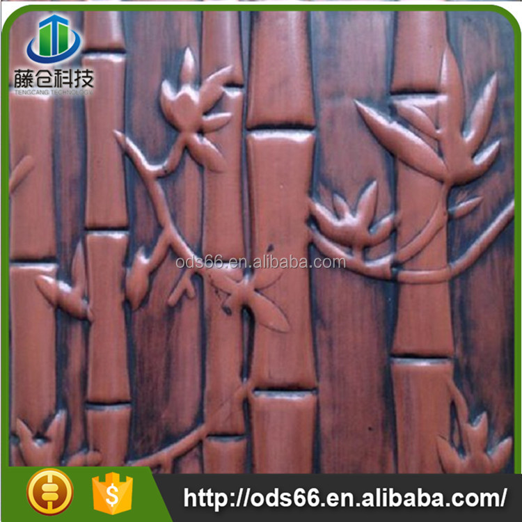 factory price decorative bamboo leather faux wall panels