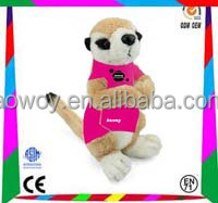 Cheapest Price plush soft meerkat p08s016 animal toy