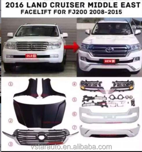 toyota land cruiser 2008 change to 2016 car accessories body kit