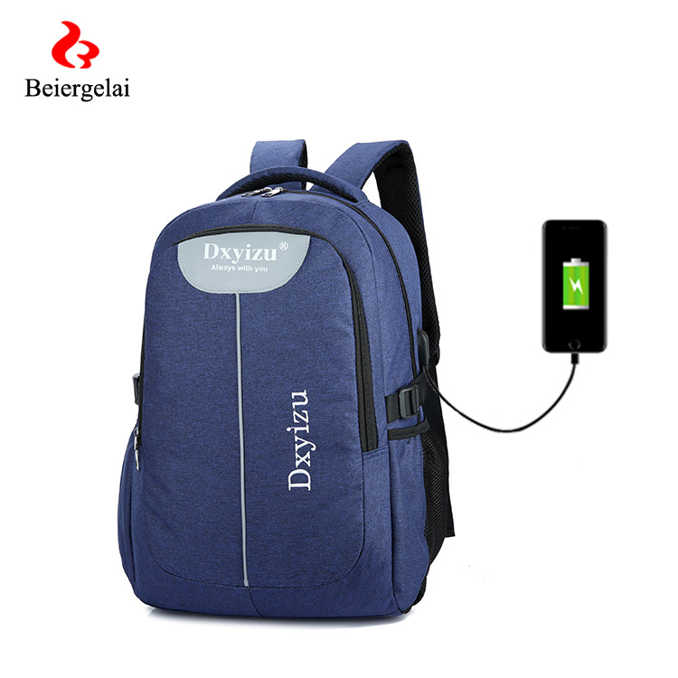 School computer rucksack business bag college backpacks satchel with USB charging port