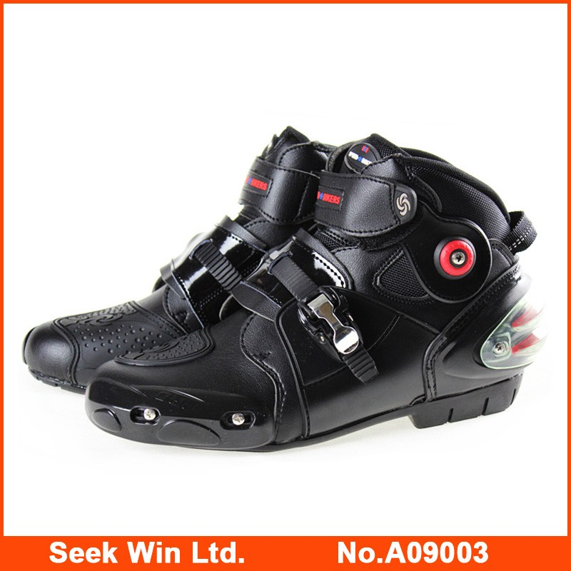 New Arrival Waterproof Sport Shoes Moto Motorcycle Riding Boots Motor Bike Shoes Mens Biker Boots Leather Motorcycle Boots