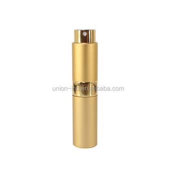8ml metal twist up perfume atomizer with glass bottle inside